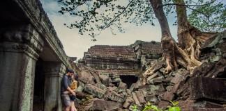 Couple at Angkor